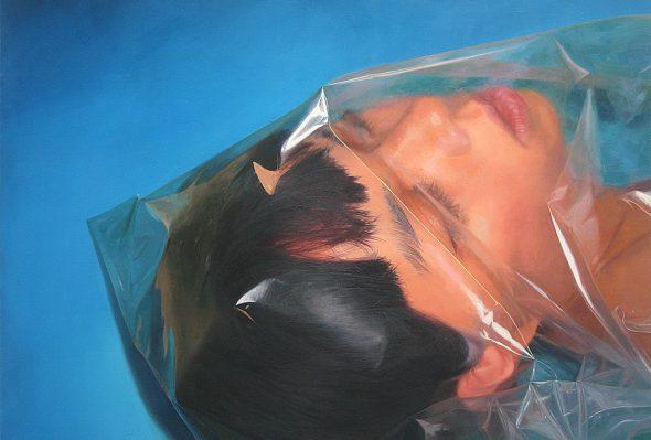Azul/hurt · Óleo sobre lienzo · 120cm X 150cm · 2013