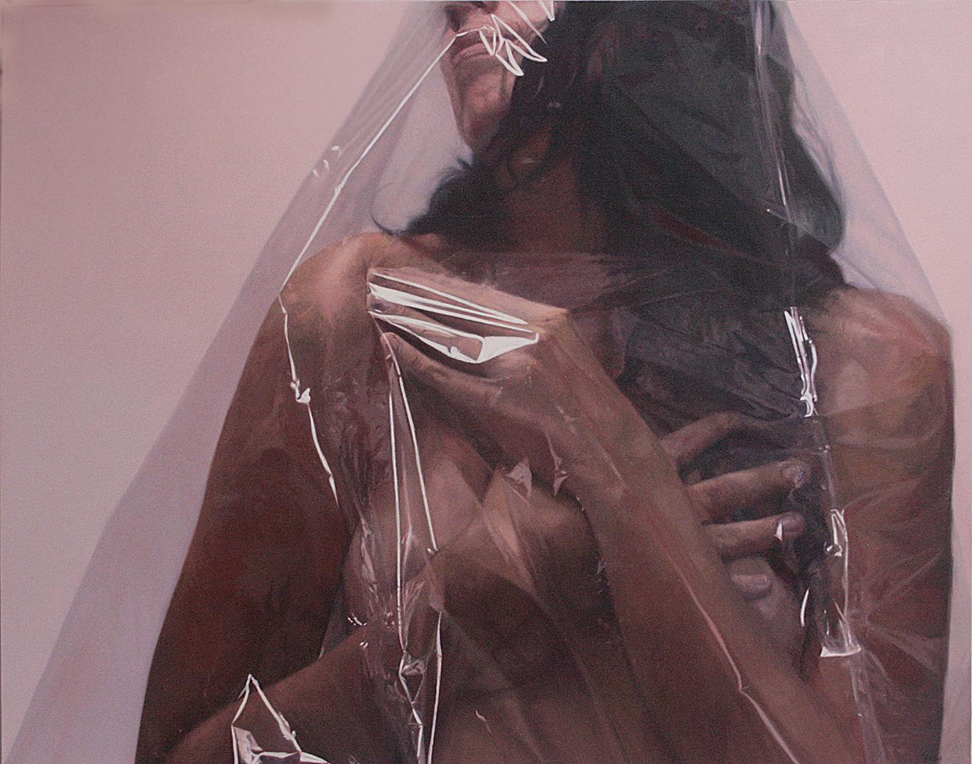 Blindaje Espiritual 3 · Óleo sobre lienzo · 150cm X 120cm · 2015