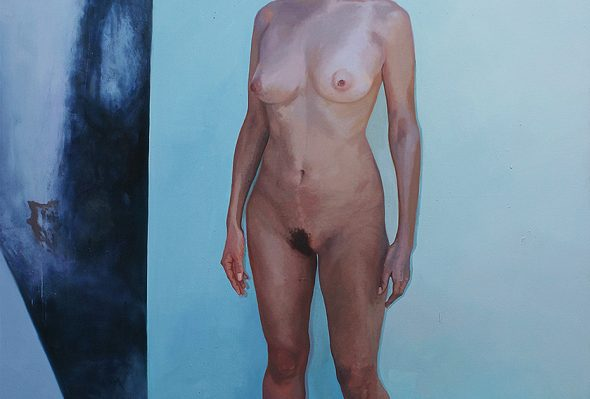 Blindaje Espiritual 2 · Óleo sobre lienzo · 160cm X 120cm · 2014
