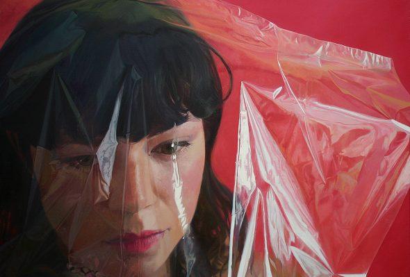 Rojo negro blanco · Óleo sobre lienzo · 136cm X 120cm · 2013