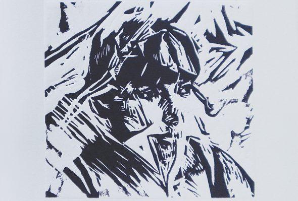 St · Xilografía sobre papel · 20cm X 20cm · 2010