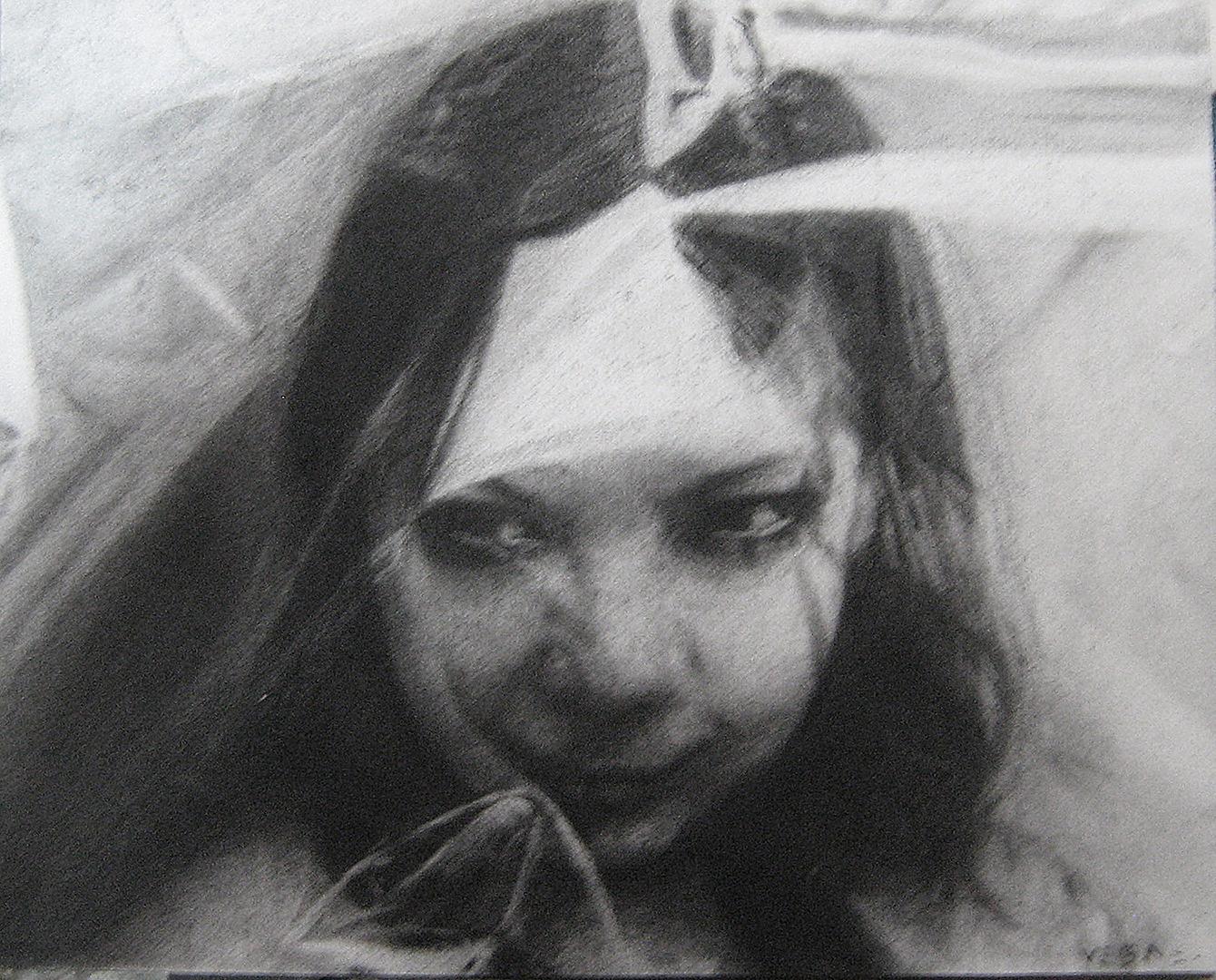 Dibujo para empaque · Carboncillo sobre papel · 20cm X 25xm · 2011
