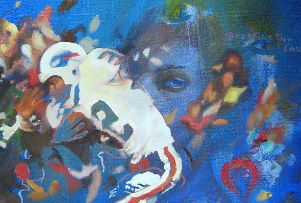 La Ira · Óleo sobre lienzo · 30cm X 30cm · 2008