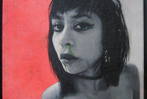 Moko · Óleo sobre lino · 20cm X 25cm · 2010