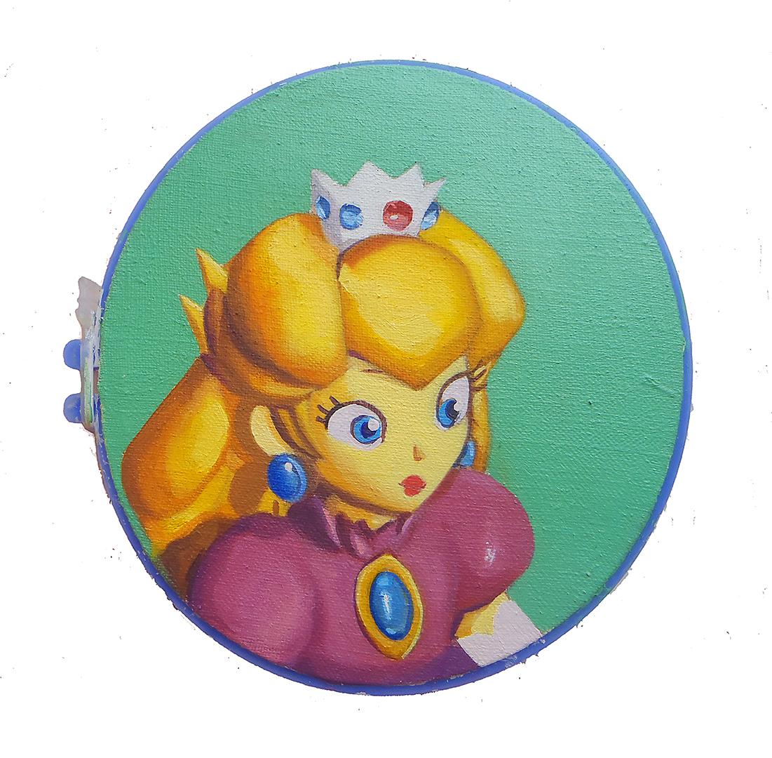Princess · Óleo sobre lino · 12cm de diámetro · 2013