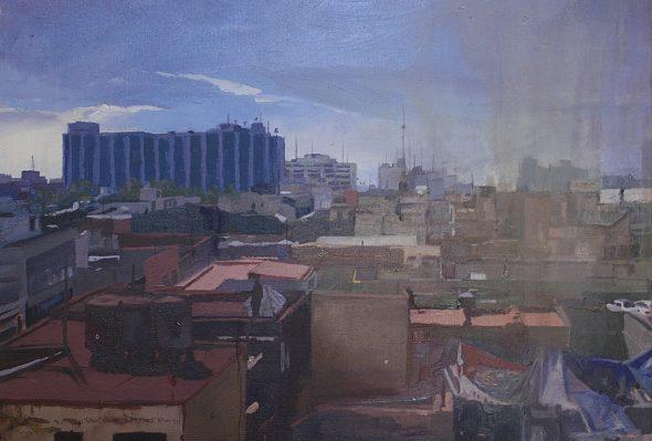 Vista desde el Hotel D.F.  (Hotel Isabel)  · Óleo sobre lienzo · 30cm X 25cm · 2016